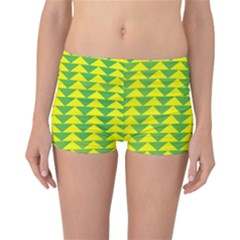 Arrow Triangle Green Yellow Reversible Bikini Bottoms