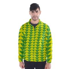 Arrow Triangle Green Yellow Wind Breaker (Men)