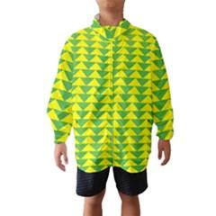 Arrow Triangle Green Yellow Wind Breaker (Kids)