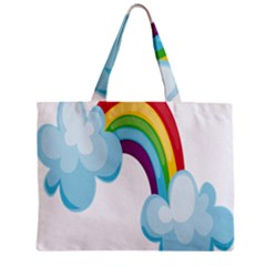 Could Rainbow Red Yellow Green Blue Purple Zipper Mini Tote Bag