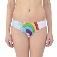 Could Rainbow Red Yellow Green Blue Purple Hipster Bikini Bottoms