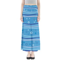 Blue Circle Line Waves Maxi Skirts