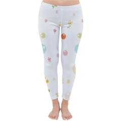 Flower Floral Star Balloon Bubble Classic Winter Leggings