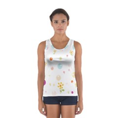 Flower Floral Star Balloon Bubble Women s Sport Tank Top