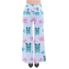 Frog Green Pink Flower Pants