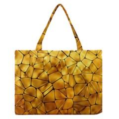Gold Medium Zipper Tote Bag