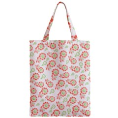 Flower Floral Red Star Sunflower Zipper Classic Tote Bag