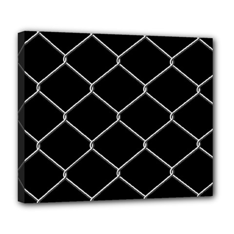 Iron Wire White Black Deluxe Canvas 24  x 20