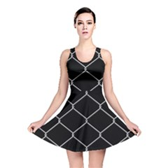 Iron Wire White Black Reversible Skater Dress