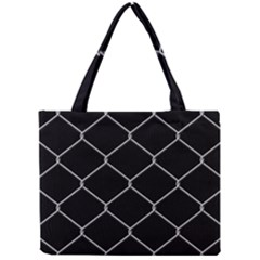Iron Wire White Black Mini Tote Bag