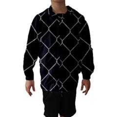Iron Wire White Black Hooded Wind Breaker (Kids)