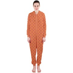 Heart Orange Love Hooded Jumpsuit (Ladies)