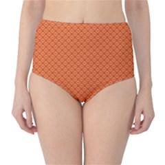 Heart Orange Love High-Waist Bikini Bottoms