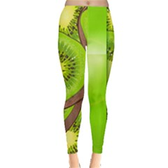 Fruit Slice Kiwi Green Leggings