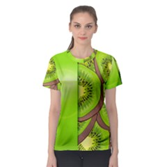 Fruit Slice Kiwi Green Women s Sport Mesh Tee