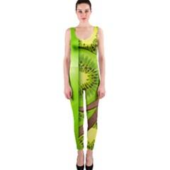 Fruit Slice Kiwi Green OnePiece Catsuit