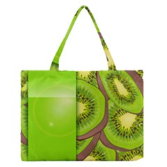 Fruit Slice Kiwi Green Medium Zipper Tote Bag