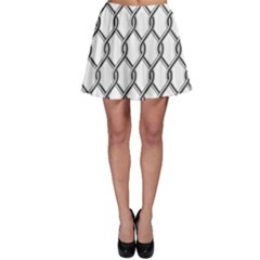 Iron Wire Black White Skater Skirt