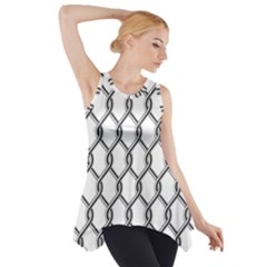 Iron Wire Black White Side Drop Tank Tunic
