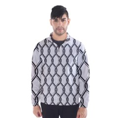 Iron Wire Black White Wind Breaker (Men)