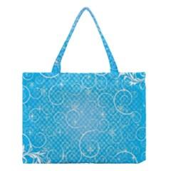 Leaf Blue Snow Circle Polka Star Medium Tote Bag
