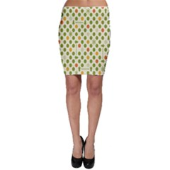 Merry Christmas Polka Dot Circle Snow Tree Green Orange Red Gray Bodycon Skirt