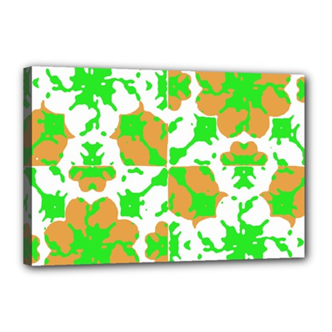 Graphic Floral Seamless Pattern Mosaic Canvas 18  x 12