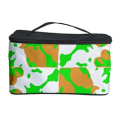 Graphic Floral Seamless Pattern Mosaic Cosmetic Storage Case