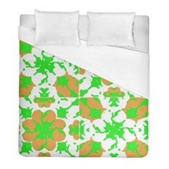 Graphic Floral Seamless Pattern Mosaic Duvet Cover (Full/ Double Size)