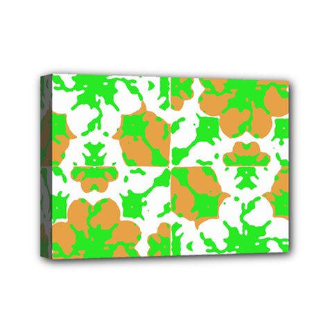 Graphic Floral Seamless Pattern Mosaic Mini Canvas 7  x 5