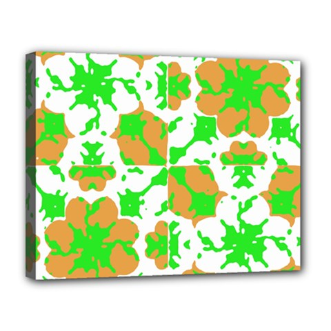Graphic Floral Seamless Pattern Mosaic Canvas 14  x 11