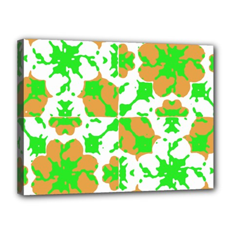 Graphic Floral Seamless Pattern Mosaic Canvas 16  x 12