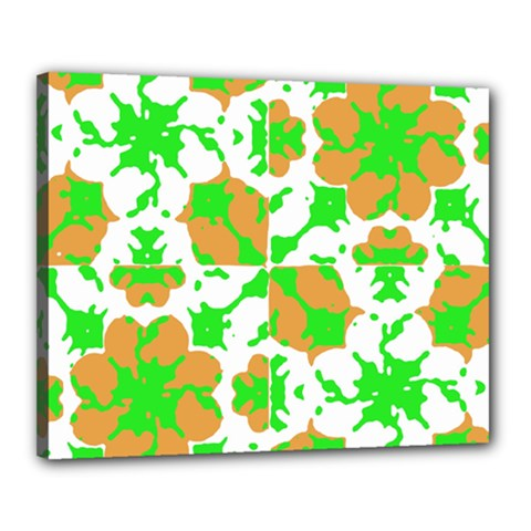 Graphic Floral Seamless Pattern Mosaic Canvas 20  x 16