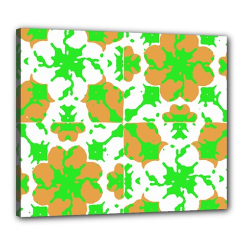 Graphic Floral Seamless Pattern Mosaic Canvas 24  x 20