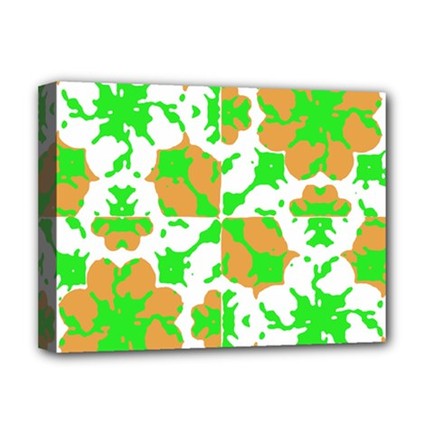 Graphic Floral Seamless Pattern Mosaic Deluxe Canvas 16  x 12