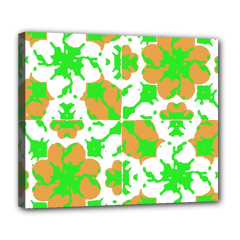 Graphic Floral Seamless Pattern Mosaic Deluxe Canvas 24  x 20