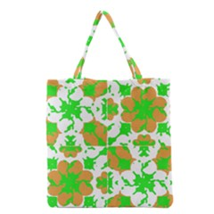 Graphic Floral Seamless Pattern Mosaic Grocery Tote Bag