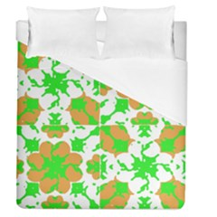 Graphic Floral Seamless Pattern Mosaic Duvet Cover (Queen Size)
