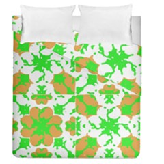 Graphic Floral Seamless Pattern Mosaic Duvet Cover Double Side (Queen Size)