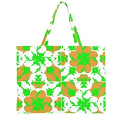 Graphic Floral Seamless Pattern Mosaic Large Tote Bag