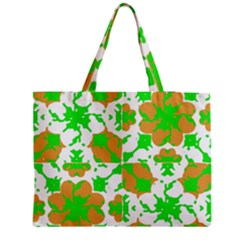 Graphic Floral Seamless Pattern Mosaic Medium Zipper Tote Bag