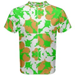 Graphic Floral Seamless Pattern Mosaic Men s Cotton Tee