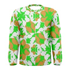 Graphic Floral Seamless Pattern Mosaic Men s Long Sleeve Tee
