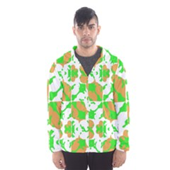 Graphic Floral Seamless Pattern Mosaic Hooded Wind Breaker (Men)