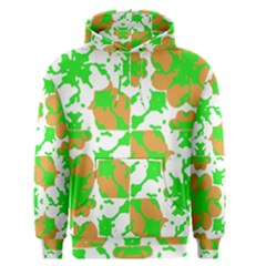 Graphic Floral Seamless Pattern Mosaic Men s Pullover Hoodie