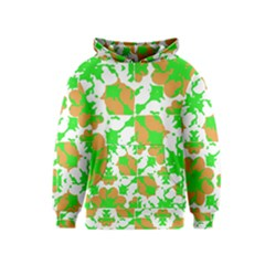 Graphic Floral Seamless Pattern Mosaic Kids  Pullover Hoodie