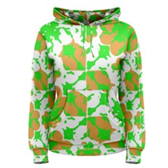 Graphic Floral Seamless Pattern Mosaic Women s Pullover Hoodie