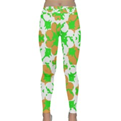 Graphic Floral Seamless Pattern Mosaic Classic Yoga Leggings