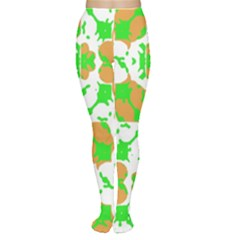 Graphic Floral Seamless Pattern Mosaic Women s Tights