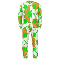 Graphic Floral Seamless Pattern Mosaic OnePiece Jumpsuit (Men)